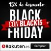 Black Friday de Rakuten con el 15% de descuento en cualquier compra