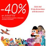 40% descuento Juguetes en Carrefour