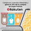 Compra en 3 tiendas diferentes de Rakuten y llévate el 15% en SuperPuntos