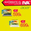 Ahórrate el IVA en portátiles Acer en Carrefour