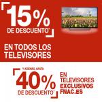 15% dto en Teles en Fnac y hasta el 40% en algunos modelos