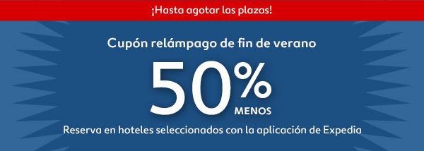 50% de descuento en hoteles de Expedia