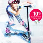 10% de descuento en bicis, patines y patinetes de Imaginarium