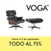 45€ de descuento en VOGA + 75% descuento en todos los muebles