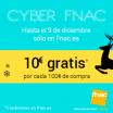 Llévate 10€ de regalo en Fnac por cada 100€ de compra
