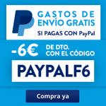 6€ de descuento + gastos de envio gratis en Rakuten