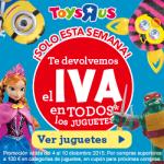 En ToysRus te devuelven el IVA en todos los juguetes