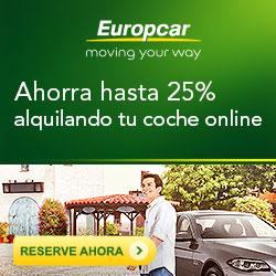 Hasta el 25% de descuento en Europcar para alquileres de coche