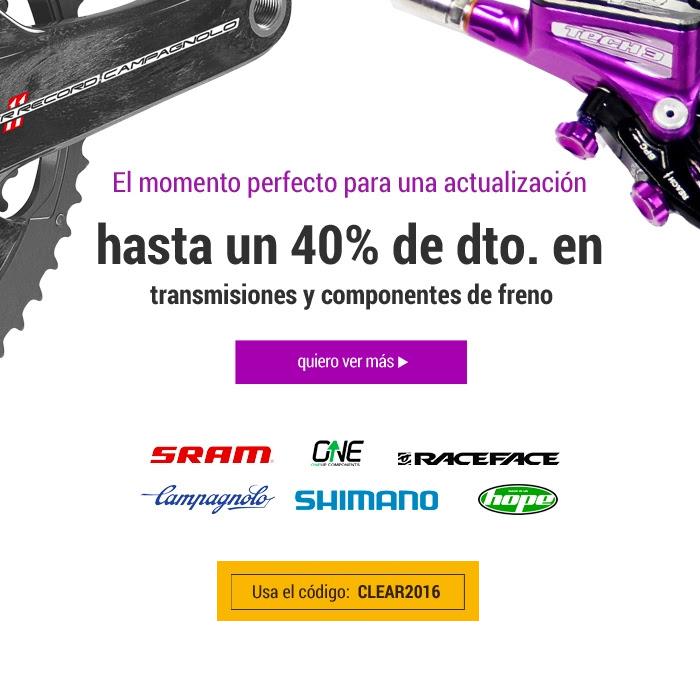 Hasta el 40% de descuento en componentes para bici en CRC